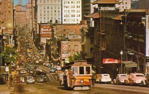 California San Francisco Cable Car On California Street 1969