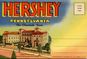 Folder -   PA, Hershey. The Chocolate Town   16 views + narrative