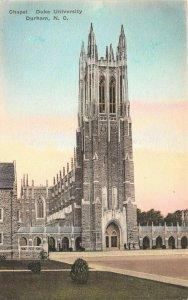 LP62  Durham  North Carolina Postcard Chapel Duke University Colored Albertype