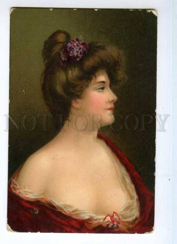 246580 Glamour Lady in Red by Angelo ASTI vintage TSN #600-10