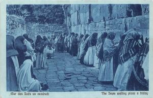 Israel Jerusalem, The Jews wailing place on a friday, religious worship (Cairo)