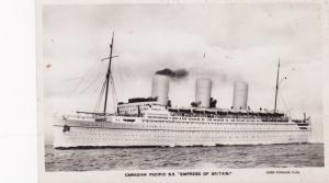 RP: Canadian Pacific Ocean Liner EMPRESS OF BRITIAN , 30-40s; Version-2