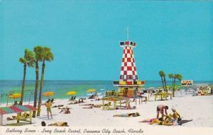 Florida Panama City Beach Bathing Scene At Long Beach Resort