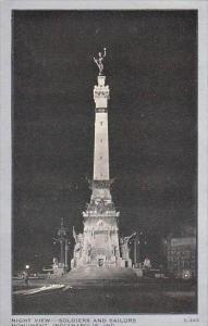 Indiana Indianapolis Night View Soldiers And Sailors Monument