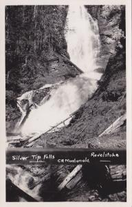 RP, Scenic View of Silver Tip Falls, Revelstoke, B.C., Canada, 1920-40s