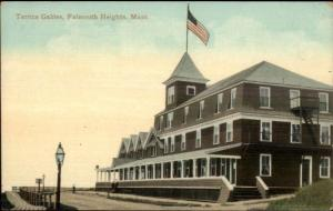 Falmouth Heights Cape Cod MA Terrace Gables sp Terrice c1910 Postcard