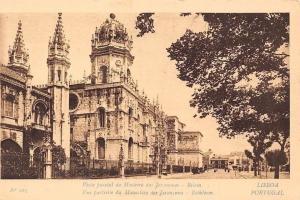 Portugal Lisboa Vista parcial da Mosteiro dos Jeronymos - Belem, Bethleem