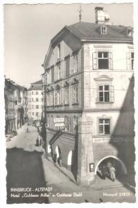 RP; INNSBRUCK-ALLSTADT Hotel, Goldener Adlere. oldenes Dachl, Tirol, Austria,...