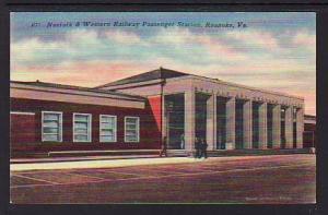 Norfolk Western Railway Station Roanoke VA Post Card 5272