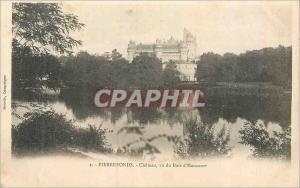 Old Postcard Pierrefonds Chateau Seen from Bois d'Haucourt