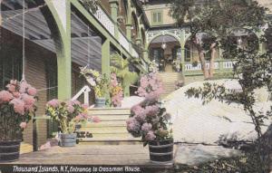 THOUSAND ISLANDS, New York, 1900-1910's; Entrance To Crossman House