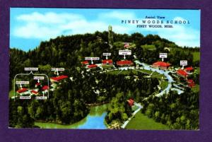 MS Aerial View Piney Woods School MISSISSIPPI POSTCARD