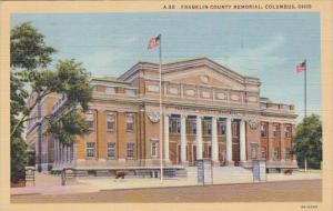 Ohio Columbus Franklin County Memorial 1943 Curteich