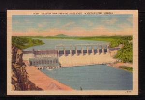 Virginia colour PC Claytor Dam, Peaks Knob, unused