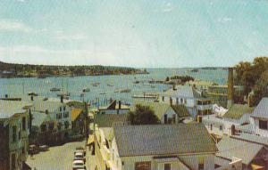 Maine Boothbay Harbor View Looking Down At the Town With Beautiful Boothbay H...