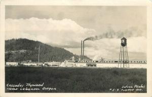 Cascade Plywood Lebanon Oregon 1930s Factory Industry RPPC Postcard 13573