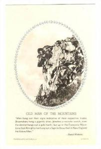 Old Man of The Mountains, Franconia Notch, White Mts., New Hampshire, 00-10s