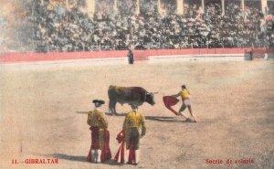 US3094 Spain Gibraltar Suerte de Volapie Bull Fight Postcard corrida