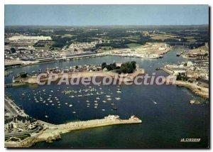Postcard Modern Concarneau View Aerienne