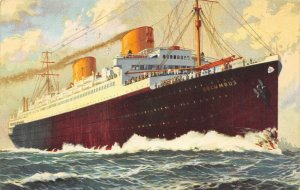 LP54  Ship Vintage Postcard Norddeutscher Lloyd Bremen Columbus
