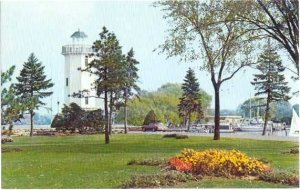 The Lighthouse in Lakeside Park, Fond Du Lac, Wisconsin, WI, Chrome