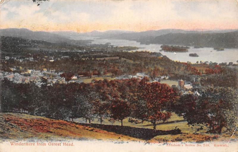 Windermere from Orrest Head General view 1908