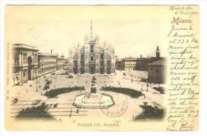 Milano Italy, PU-1904, Piazza del Duomo