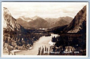 BYRON HARMON RPPC #236 BOW VALLEY BANFF ALONG THE CANADIAN PACIFIC RAILWAY LINE