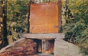 Cherokee North Carolina~Oconaluftee Indian Village~Eternal Flame~1950s Roadside