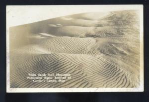 RPPC WHITE SANDS NATIONAL MONUMENT NEW MEXICO REAL PHOTO POSTCARD NM