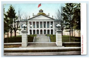 Postcard State Capitol, Augusta ME Maine udb G33