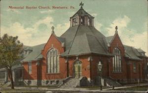 Newberry PA Church c1910 Postcard