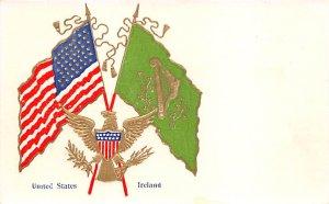 Flag USA, Ireland St. Patrick's Day, Postcard Unused