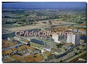 Postcard Modern Montceau les Mines S and L Aerial View General