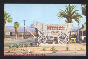 NEEDLES CALIFORNIA ROUTE 66 COVERED WAGON SIGN RAILROAD