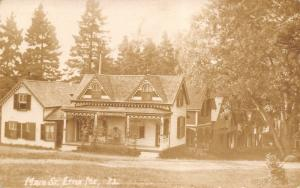 Etna Maine~Main Street~Victorian Houses Downhill~Our Summer Home~1915 RPPC