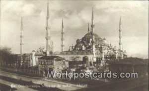 Real photo - Mosquee de Sultan - Ahmed Turkey Unused