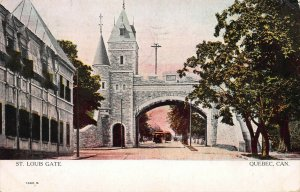 St. Louis Gate, Quebec City, Quebec, Canada, early postcard, used in 1907