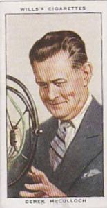 Wills Vintage Cigarette Card Radio Celebrities No 5 Derek McCulloch