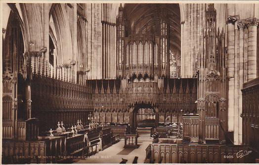 England York York Minster The Choir Looking West