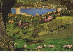 Turkey Istanbul Rumeli Hisara Castle and Bosphorus