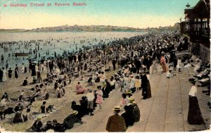 Revere Beach, Massachusetts - Holiday Crowd - No social Distancing - in 1915