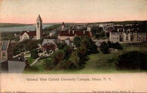 New York Ithaca General View Cornell University Campus 1909