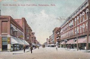 Michigan Kalamazoo South Berdick Street From Post Office 1909