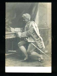 135682 Giuseppe ANSELMI Italian OPERA TENOR ROLE vintage PHOTO