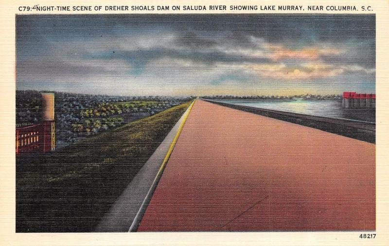 Columbia Sc South Carolina Dreher Shoals Lake Murray Dam C1940s