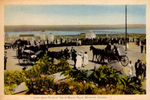 Montreal, Canada - Observation Point on Top of Mount Royal - c1908