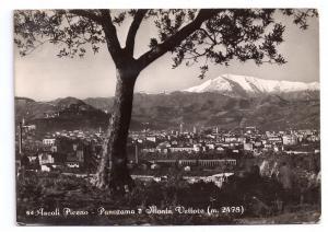 Italy Ascoli Piceno Monte Vettore Postcard 4X6 Stamps