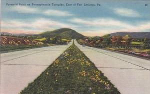 Pennsylvania Turnpike Pyramid Point East Of Fort Littleton 1950