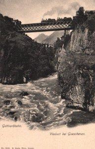 Gotthardbahn,Viaduct bei Goeschenen,Switzerland BIN